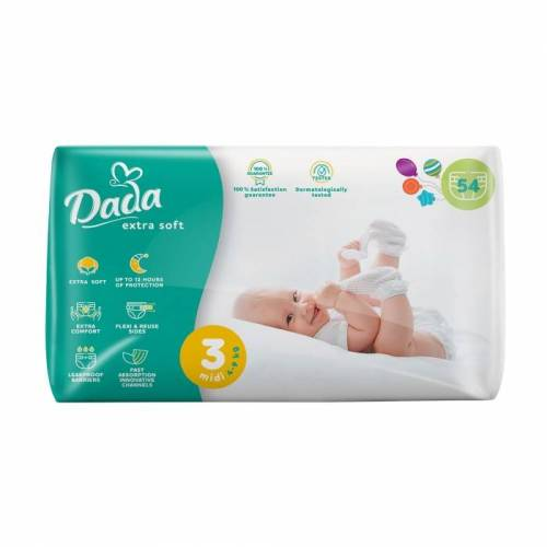 "Підгузники ""Dada"" Sof Extra 3 (4-9 кг.) 54 шт."