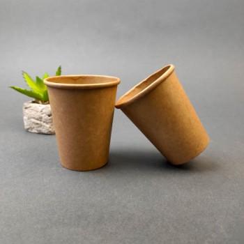 Одноразовий паперовий стакан КРАФТ 185 мл. (50 шт