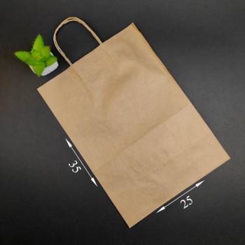 Пакет паперовий коричневий з ручкою 250*140*350 м
