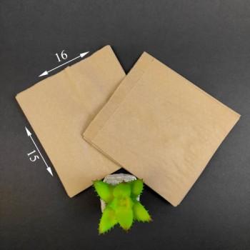 Пакет паперовий Саші бурий 160 * 150 * 50 мм