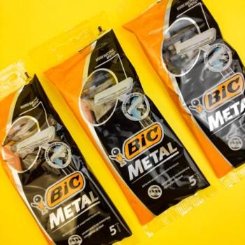 """Станок для гоління """"BIC"""" 5 шт. METAL"""
