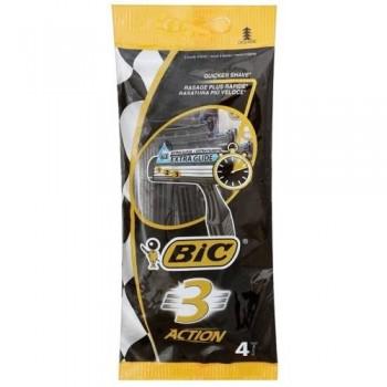 """Станок для гоління """"BIC 3"""" 4 шт. ACTION"""