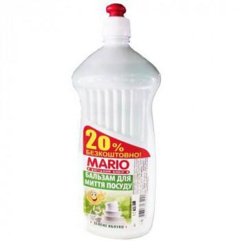 """Бальзам для миття посуду """"Mario"""" 1 л. ЗЕЛЕНЕ ЯБЛУКО"""
