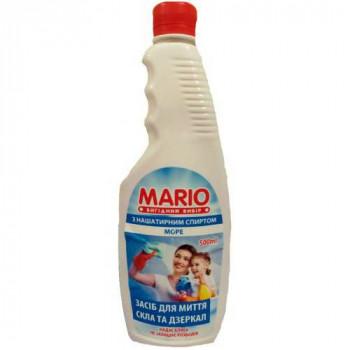 """Миючий засіб для скла та дзеркал """"Mario"""" 500 мл. запаска МОРЕ"""