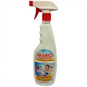 """Миючий засіб для скла та дзеркал """"Mario"""" 500 мл. ЛИМОН"""