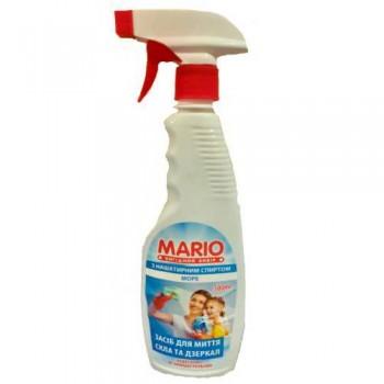 """Миючий засіб для скла та дзеркал """"Mario"""" 500 мл. МОРЕ"""