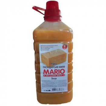 """Мило рідке господарське """"Mario"""" 3 л. + СТАКАН"""