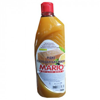 """Мило рідке господарське 0,700 мл. """"Mario"""" ЛИМОН"""