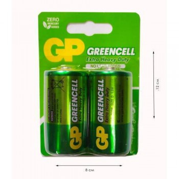 Батарейки «GP Greencell» D R20