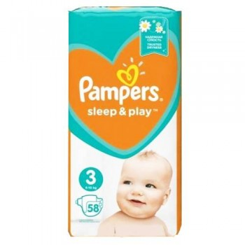 Підгузки Pampers Sleep & Play 3 (6-10 кг), 58 шт