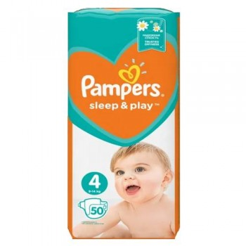 Підгузки Pampers Sleep & Play 4 (9-14 кг) 50 шт.
