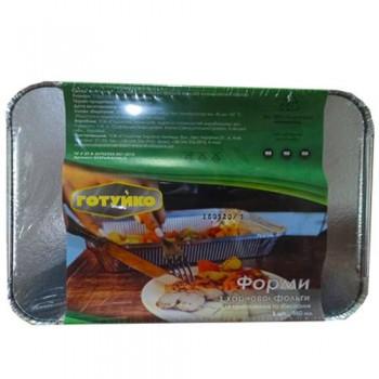 Контейнер з харчової алюмінієвої фольги R24L (SP 24L)