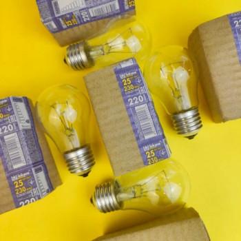 """Лампа """"Іскра""""25 W ГОФРА"""