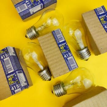 """Лампа """"Іскра"""" 40 W E27 ГОФРА"""
