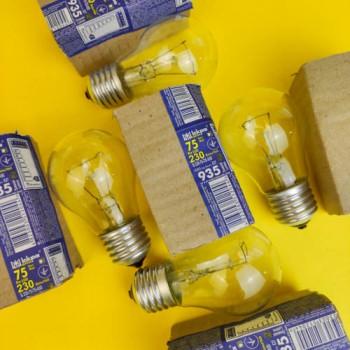 """Лампа """"Іскра"""" 75 W ГОФРА"""
