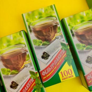 Фільтр-пакети для чаю (100 шт)
