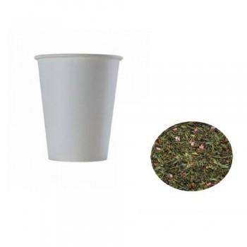 Чай в картонному стакані 330 мл. 20 шт. ЗЕЛЕНИЙ