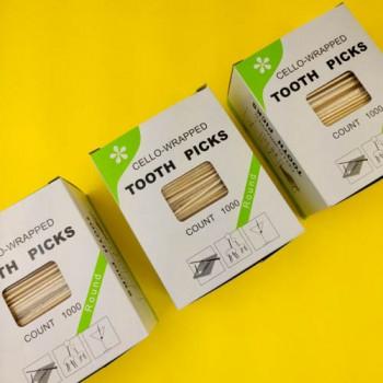 Зубочистки в індивідуальній упаковці З МЕНТОЛОМ