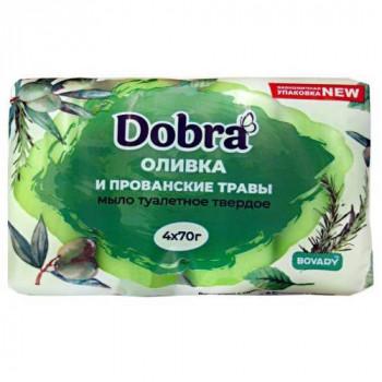 """Туалетне мило 4*70 г """"Dobra"""" Оливки та прованські трави (екопак)"""