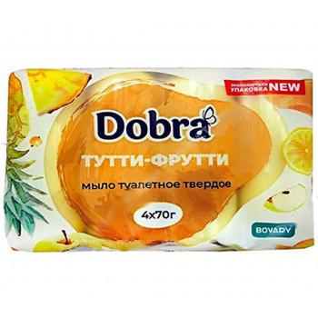 "Туалетне мило 4*70 г ""Dobra"" ТУТТІ - ФРУТТІ (екопак)"