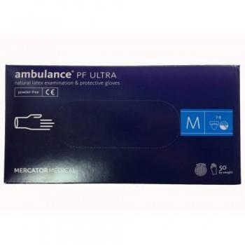 """Рукавички латексні """"Ambulancе"""" Ultra 25 пар. М"""