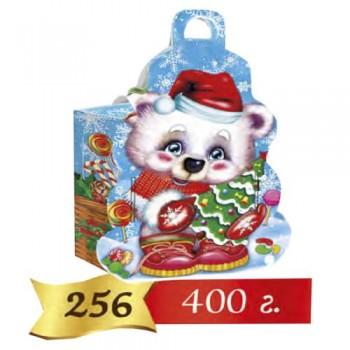 Коробка новорічна для цукерок 256 400 гр.