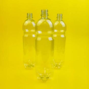 Пляшка пластикова прозора 1 л БЕЗ КРИШКИ