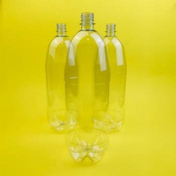 Пляшка пластикова прозора 2 л БЕЗ КРИШКИ