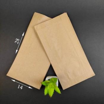 Пакет паперовий САШЕ БУРИЙ ВТ (100 шт.) 140*50*280 мм