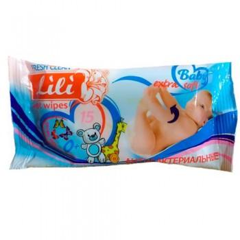 Серветки вологі (15 шт.) Lili для дітей КАЛЕНДУЛА +
