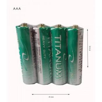Батарейки ААА Titanium сольові