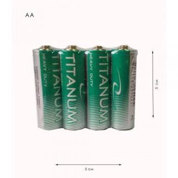 Батарейки «Titanium» АА R06  СОЛЬОВІ
