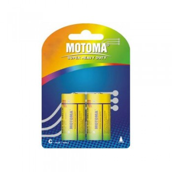 "Батарейки ""Мотома"" С  1.5V R14P-2B  (2 шт) СОЛЬОВІ  БЛІСТЕР"