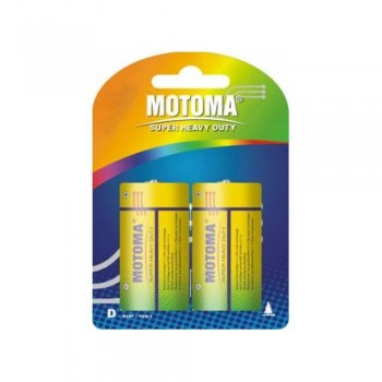 "Батарейки D ""Мотома"" сольові 1.5V R20 P-2B блістер (2шт)"