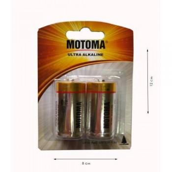 """Батарейки C """"Мотома"""" лужні 1.5V LR14-2B блістер (2шт)"""