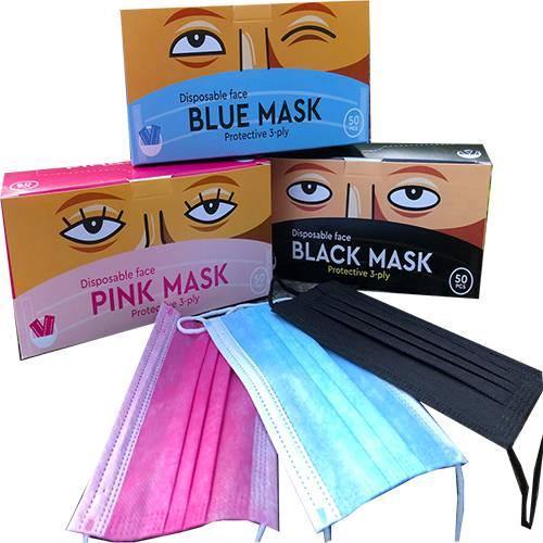 Медична маска рожева