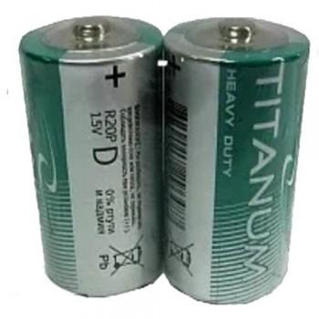 Батарейки D «Titanum» R20