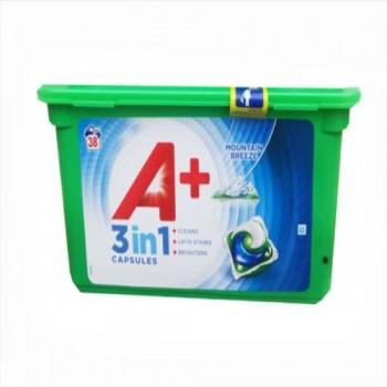 Капсули для прання А+ 4 в1 (38 шт)