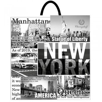 Пакет с ручкой 40*42 НЬЮ - ЙОРК ВТ