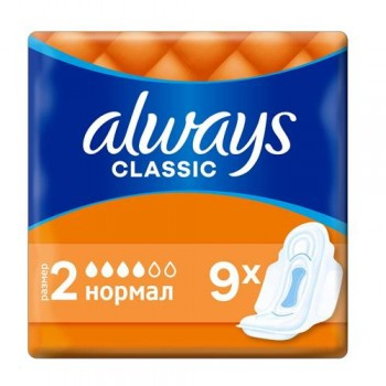 Прокладки Always Classic Normal Single 4 краплі (9 шт)