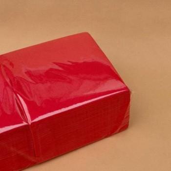 Серветки банкетні 33х33 см 1/4 2 шар. 200 шт. ЧЕРВОНА NL 544