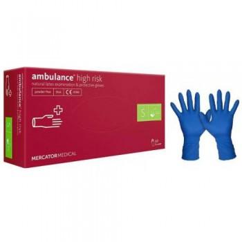 Рукавички латексні (S) Ambulancе (25 пар)